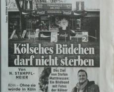 AM BÜDCHE in der BILD Köln